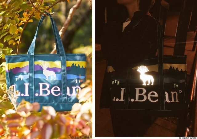 New Ghibli Princess Mononoke tote bags from L.L. Bean feature glow-in-the-dark forest spirits