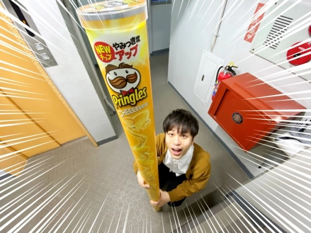 A giant 161-centimeter can of Pringles is exactly the kind of snack system we need【Photos】