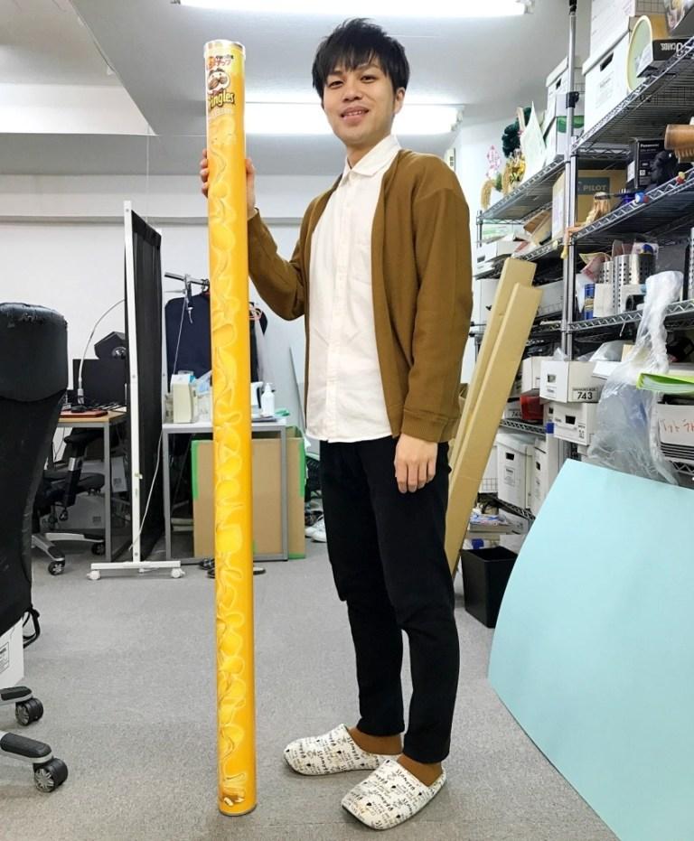 日本品客推出161cm長的等身大包裝 LP-7