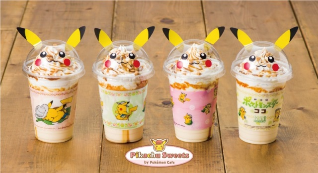 Pikachu Pika Pika purin dessert drinks totally tempting at Pokémon sweets cafe