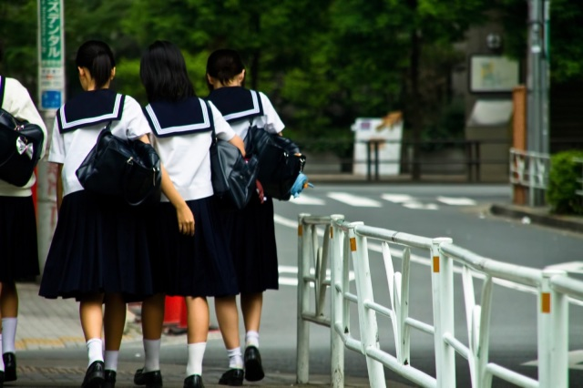 Japanese middle school criticized for pulling out girls' bra straps to check their color