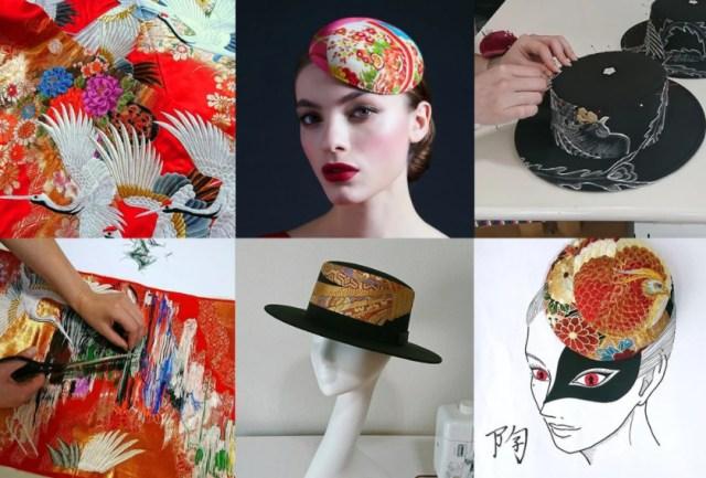 Japanese fashion brand Keiko Tagai turns beautiful old kimono into stylish hats