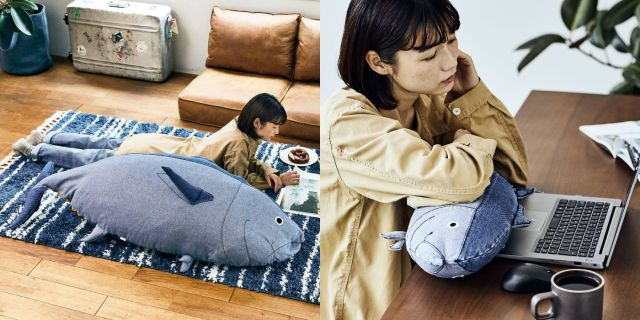 Bunker down for winter with cozy tuna cushions and a five-foot tuna futon cover