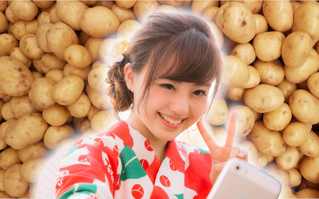 Natural grown peace-sign-shaped potato in Japan is the good omen we all need right now
