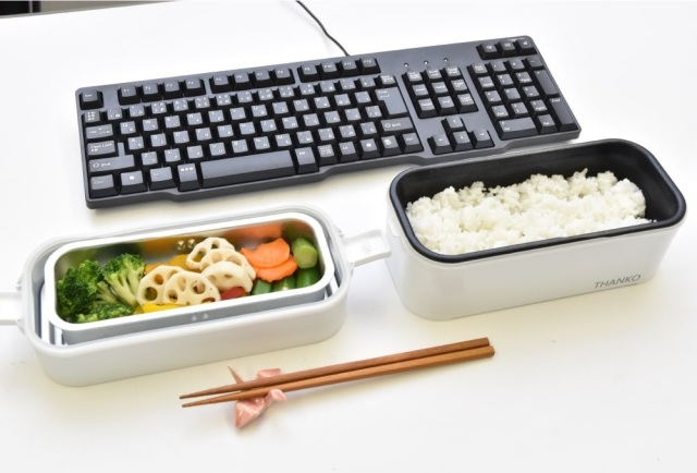 Japan's one-person bento box-sized rice cooker gets double-decker version that cooks side dishes too