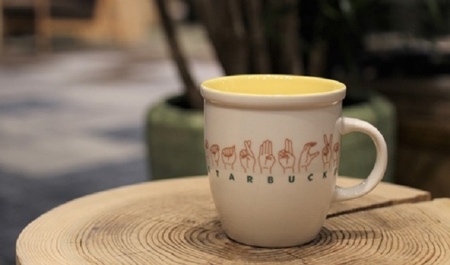 Starbucks Japan releases beautiful sign-language mug at its first sign-language branch in Tokyo