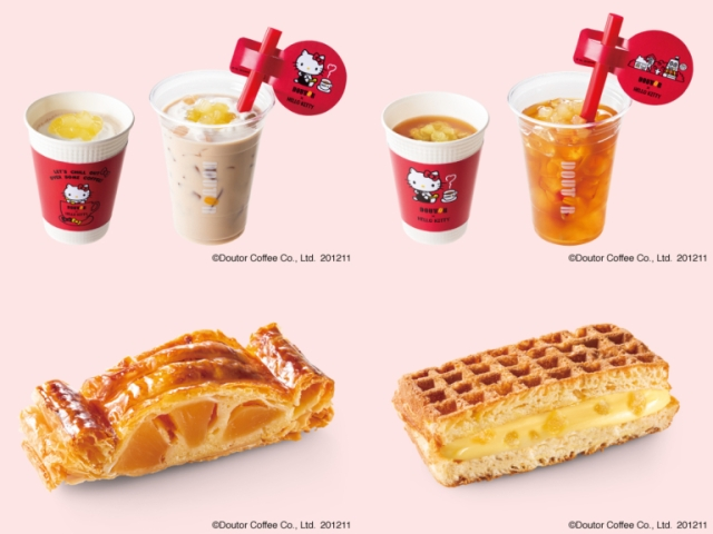 Hello Kitty collab with coffee shop Doutor offering tasty, kawaii treats, limited-edition goods