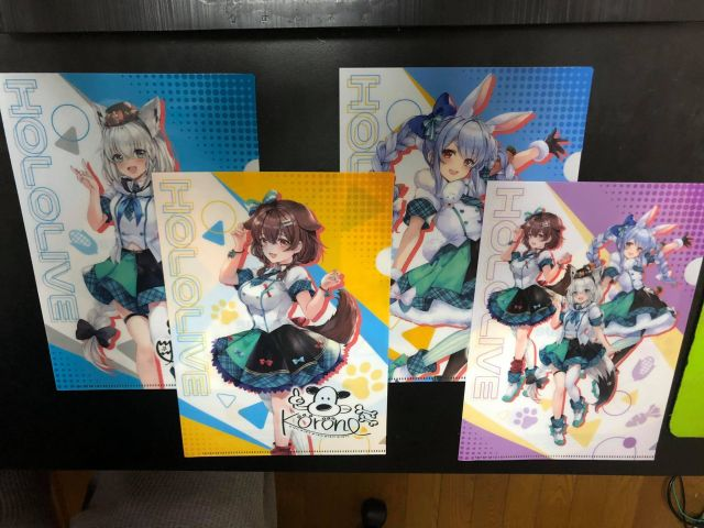 Official Hololive clear files now available at FamilyMart convenience stores【Pics】