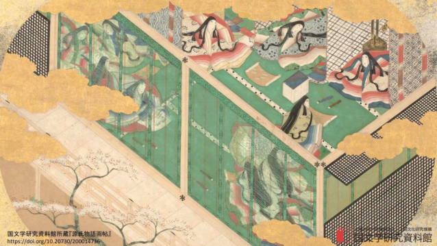 Embrace the literary and the historical with traditional Japanese artwork as your Zoom background