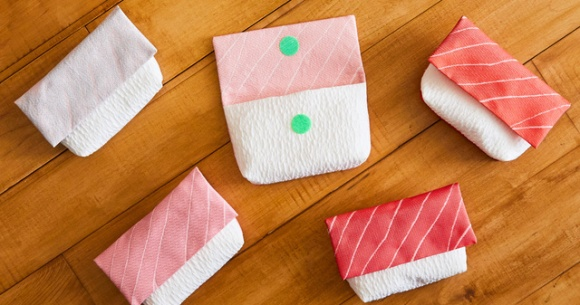 Serve up style with some of Maison Sushi's traditionally-woven sushi pouches