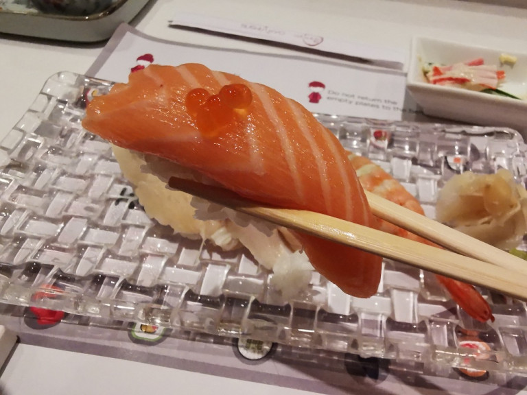 We try a rotating sushi restaurant in New Delhi, are surprised to find no rotating sushi