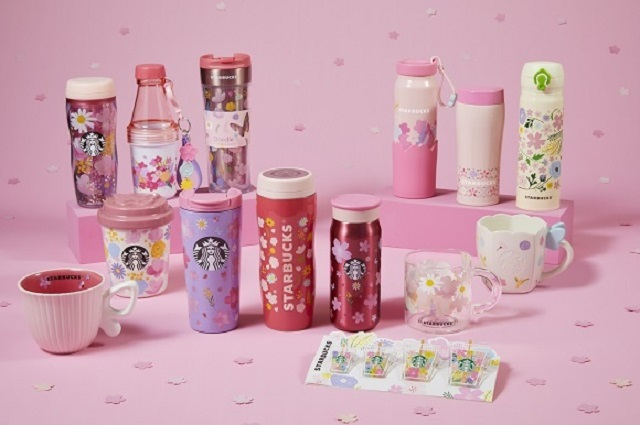 Even more Starbucks sakura cherry blossom drinkware! Round 2 for 2021 features Spring Bloom theme