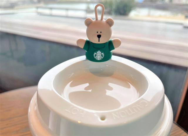 Starbucks sells bear plugs for reusable cups in Japan