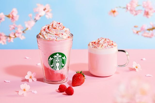 Starbucks Japan reveals new sakura Frappuccino for cherry blossom season 2021