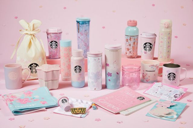 Starbucks Japan unveils sakura cherry blossom drinkware range for 2021