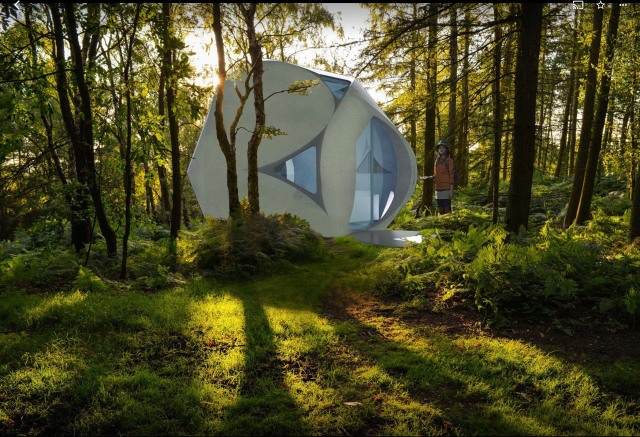 Winner of NASA's Mars residence design contest releases Japan's first 3D-printed house prototypes
