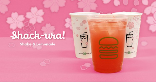 Shake Shack Japan rolls out three sakura cherry blossom-themed drinks for 2021