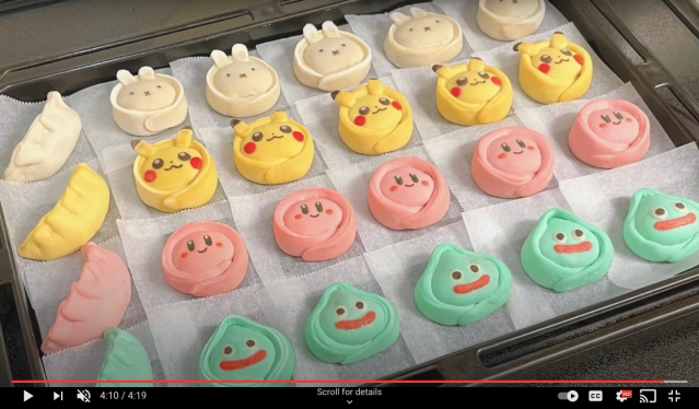 Pikachu, Kirby, Slime and Miffy served up as delicious dumpling delights【Pics, Video】