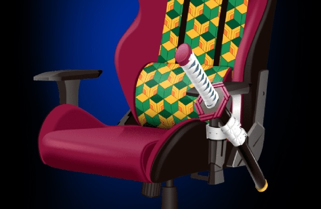 Official Demon Slayer: Kimetsu no Yaiba gaming chair come with a katana strapped to it【Photos】