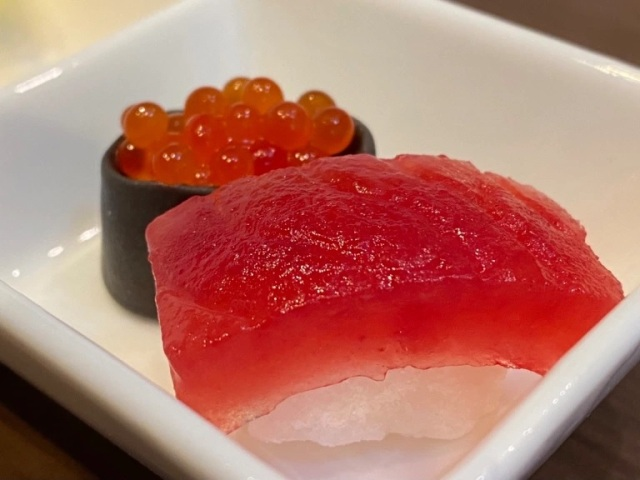 These beautiful pieces of sushi aren't actually sushi