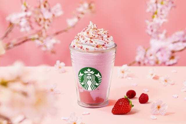 Starbucks Japan reveals second sakura Frappuccino for cherry blossom season 2021