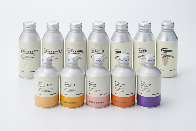 Retailer Muji converts all plastic beverage bottles into aluminum cans