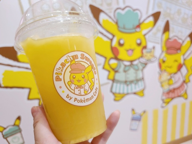 Pokémon Pinap Berry Juice being served in real world at Tokyo's Pikachu Sweets cafe【Taste test】