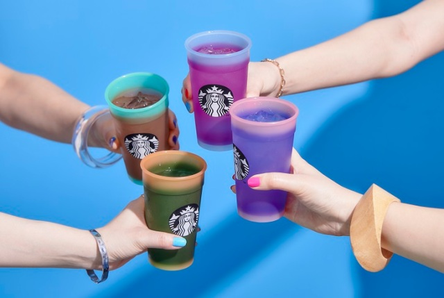 Starbucks' Colour-Changing Cold Drink Cups arrive in Japan, supporting the LGBT community