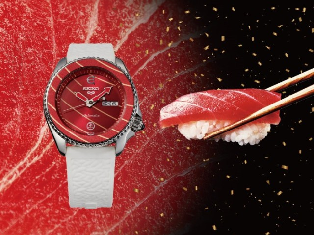 Japanese watch brand Seiko collabs with Evisen Skateboards, surprises watch and sushi lovers