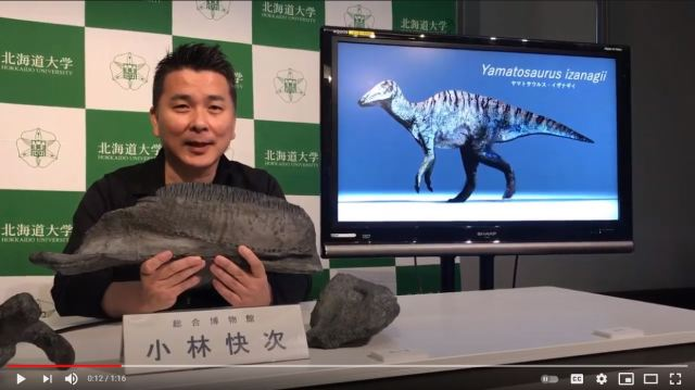 New dinosaur fossil discovered on Awaji Island, named after Japanese god