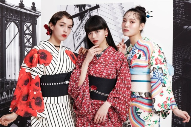 """Maybelline and Furifu release a retro-modern """"Traditions of Japan"""" yukata collection"""