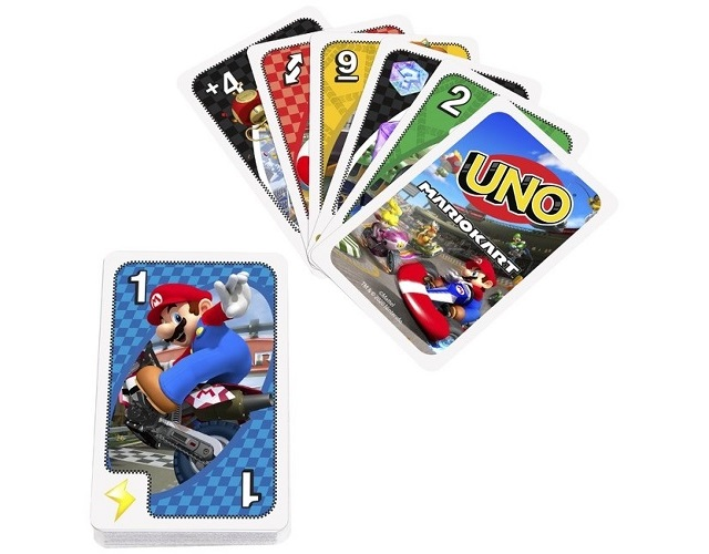 Uno Mario Kart is ready to take the action from the track to the cards with cool crossover rule