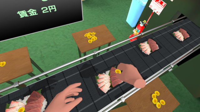 Experience a job putting dandelions on sashimi for eternity in new VR game!