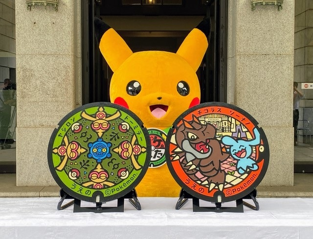 Finally! First-ever Pokémon manhole covers installed in downtown Tokyo