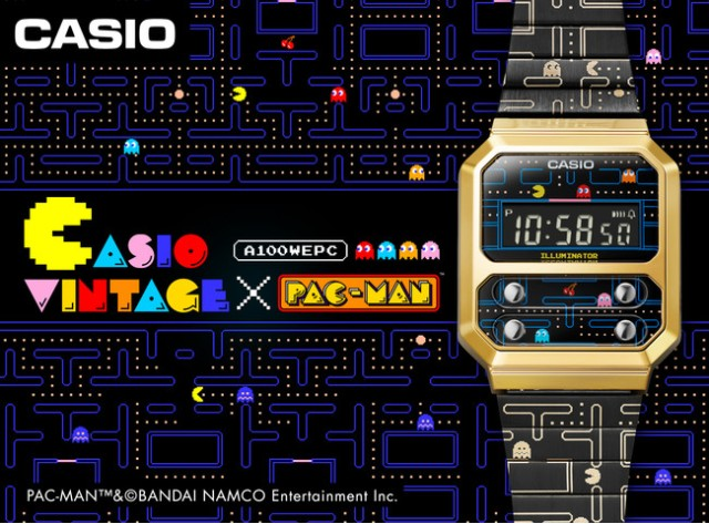 Casio partners with Pac-Man for a new but vintage-looking digital watch