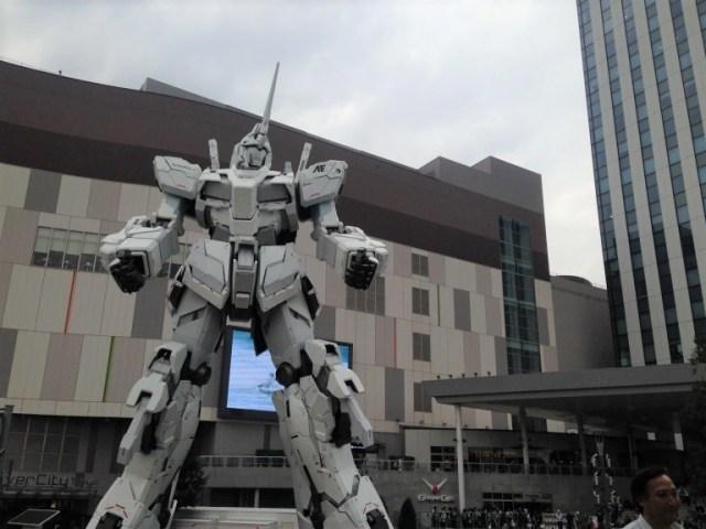 Gigantic Gundam steals the show at the Tokyo Olympics triathlon