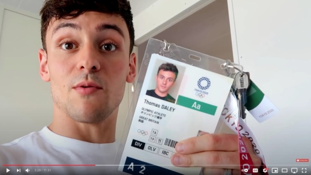 Tokyo Olympic Village tour, with gold medalist Tom Daley 【Video】