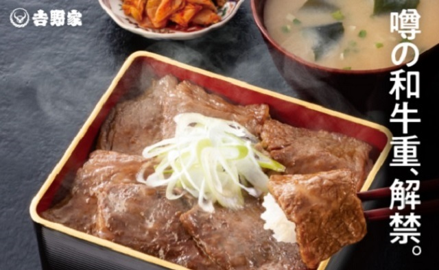 Yoshinoya's special Japanese parliament-only wagyu beef bowl is now available to us civilians too