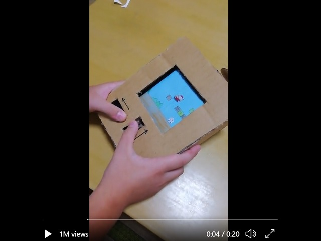 Japanese grade students make working game consoles entirely out of cardboard for their summer homework