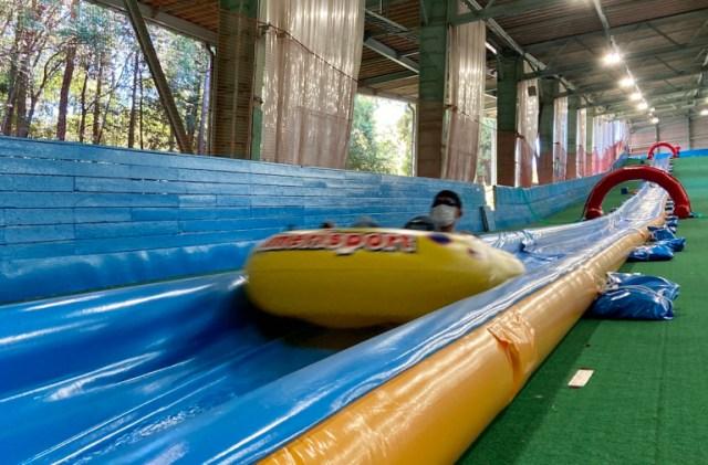 A visit to Japan's 220-meter-long water slide【Photos】