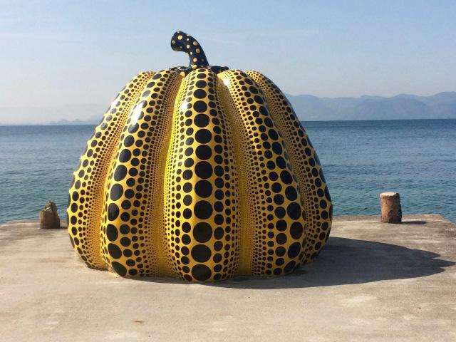 Yayoi Kusama's Yellow Pumpkin washed away during typhoon in Japan