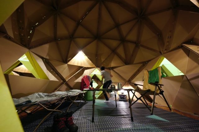 Japanese company makes durable cardboard camping domes that are completely recyclable【Pics】