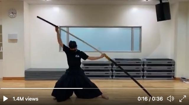 Sephiroth in real life? How to unsheathe a massive 6.8-foot samurai sword