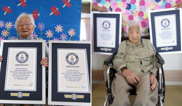 107-year-old Japanese sisters are oldest twins in the world, according to Guinness World Records