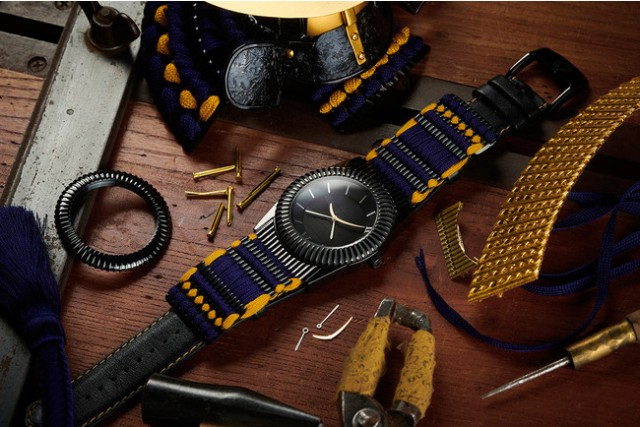 Wear a Japanese warlord's armor as a watch by supporting this crowdfunding campaign