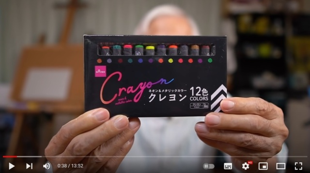 Nothing is more relaxing than watching this Japanese artist drawing with Daiso crayons【Video】