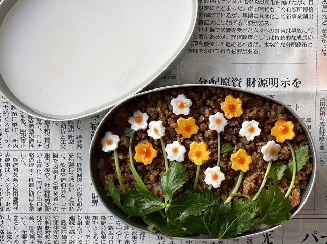 Flower field bento is cute, quick, and easy…just be careful not to make one mistake【Pics】