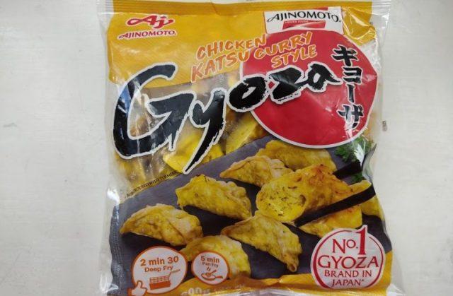 We try Ajinomoto's European Chicken Katsu Curry Style frozen gyoza that has no katsu in it