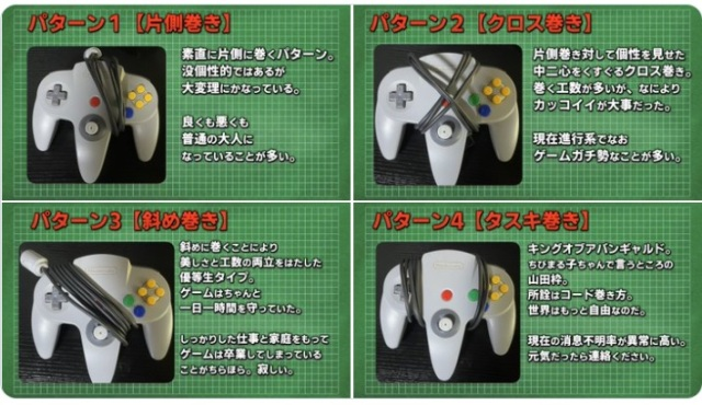 Retro game personality test: What the way you wrapped your N64 controller cord says about you