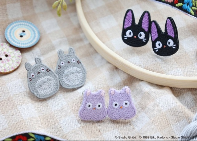 Totoro wants to be your ears' neighbor with adorable embroidered Ghibli earrings